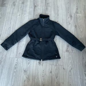 Roots Black Lined & Insulated Jacket W/ Belt M